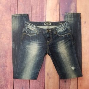 BKE skinny distressed jeans